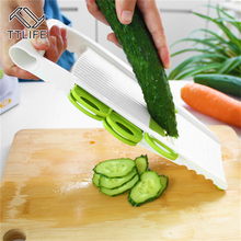 TTLIFE Manual Vegetable Cutter Mandoline Slicer with 5 Stainless Steel Blade Carrot Cutter Onion Dicer Slicer Salad Maker(China)