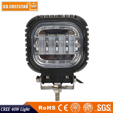 New 40W CREE Led offroad lights 12V 24V 5inch Led spotlights used for Car Truck SUV ATV Offroad 4x4 4WD Led Driving lights x1pcs