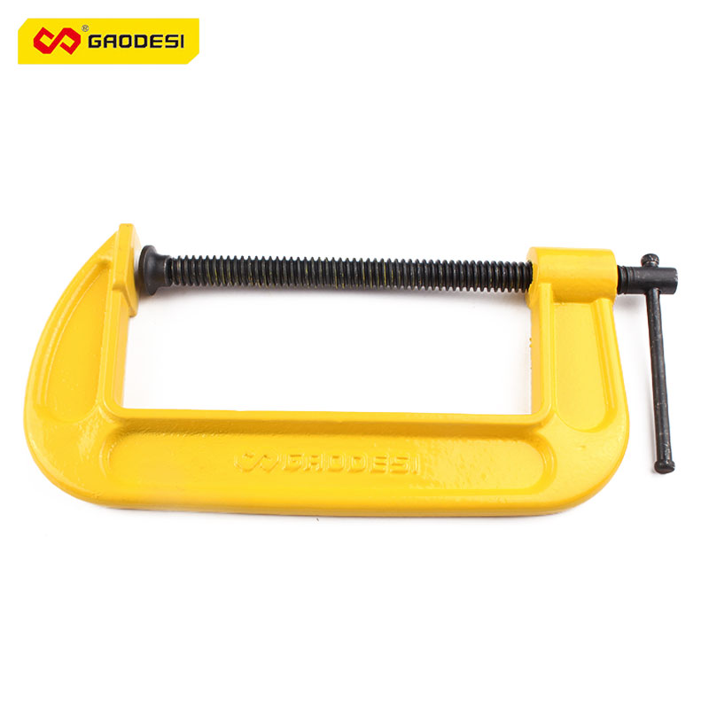 High Quality 6 Inches Durable Multi-functional Rotary Handle Heavy Duty Thick G-clamps Woodworking Fixed C-clip Tools    <br>