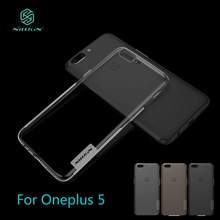 Oneplus 5 A5000 Case NILLKIN Nature TPU Transparent Clear Soft Cases Luxury Back Cover - HON ELECTRONICS CO LTD store