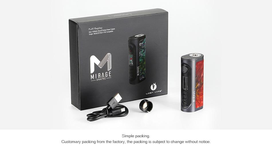 Lost Vape Mirage DNA75C TC Box MOD