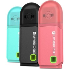 Original Portable 360 WiFi Mini Pocket 3 Wireless Network Router Best Price 3 Colors Pink/Blue/Black Wi-Fi Router(China)