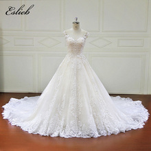 Buy Eslieb Elegnt Custom made Ball Gown Wedding Dresses Emboridey Lace Appliques Pearls Bridal Gowns Vestido De Novias Wedding Dress for $719.99 in AliExpress store