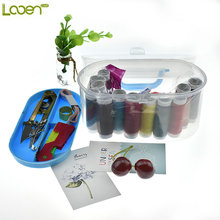 Looen Brand Convenient Portable Design Sewing Kit Crochet Full Set Threader Needle Measure Tape Scissor Sewing Kit Box Home Tool(China)