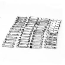 50pcs Practical Silver Tone Safety Brooch Back Safety Catch Bar Pins Jewelry Findings Accessories for DIY Brooches Making 25mm