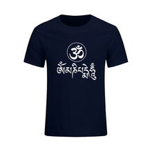 Summer New Fashion JN BUDDHISM OM MANI PADME HUM T Shirt Men Casual Short Sleeve O-Neck Tops Tees Large Size Dress Brand Clothes(China)