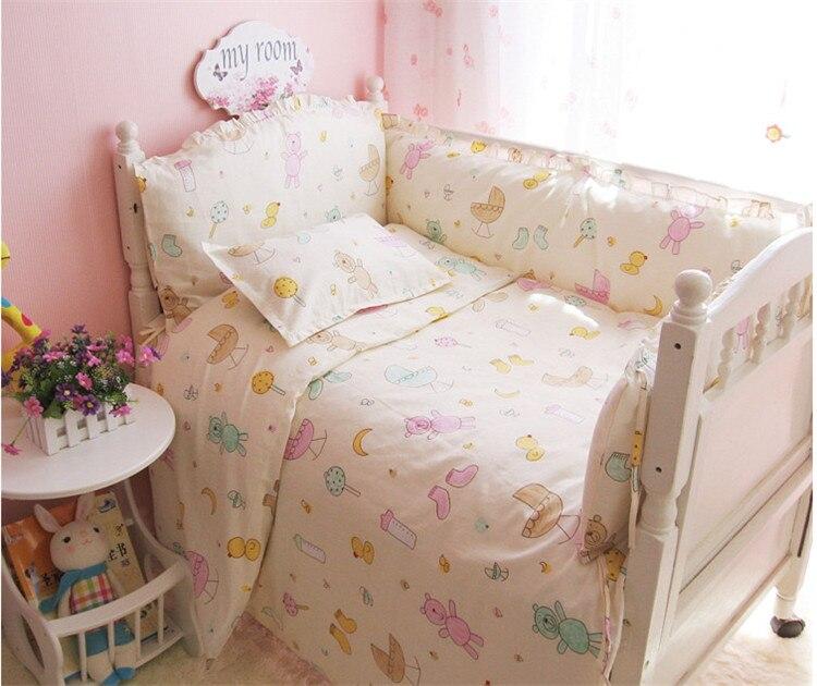 Cute pattern cartoon design Baby boy girls Crib Bedding Sets bed linen in a cot,Set in a crib for a newborn<br>