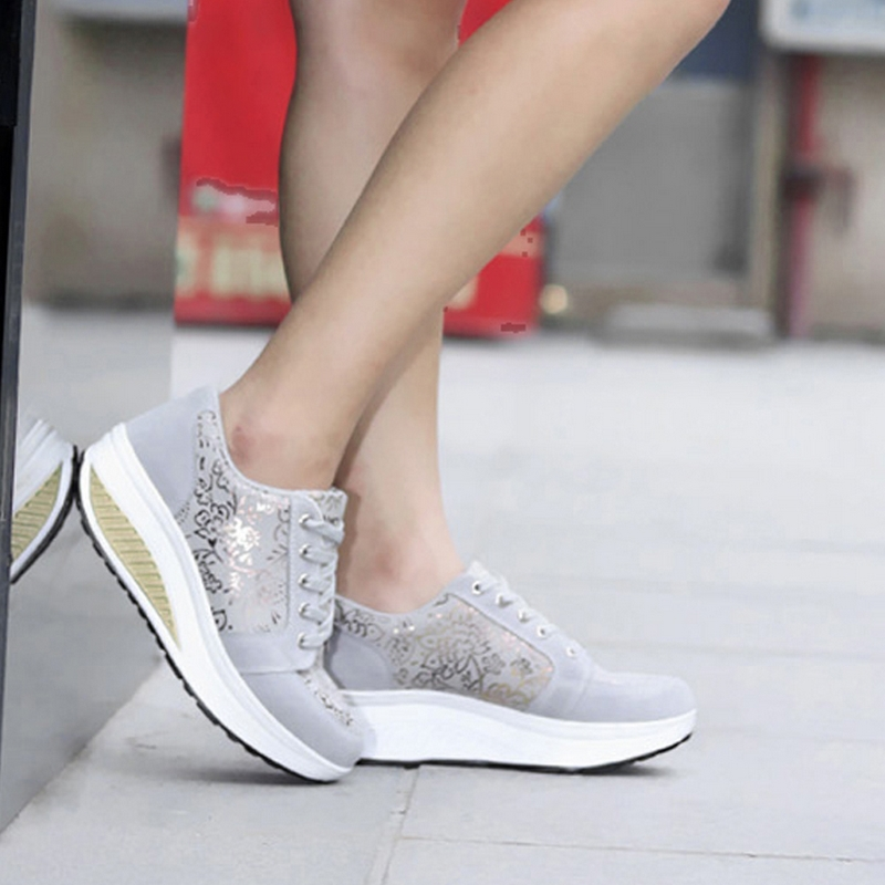 2017 Hot Women Bodybuilding Platform Shoes Women Casual Shoes Lose Weight Breathable increase height Shoes A719<br><br>Aliexpress