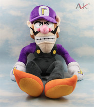 High Quality 11'' 28cm Super Mario Bros Brothers Waluigi Purple Color Stuffed Soft Toys Dolls Kids Gift,1pcs/pack