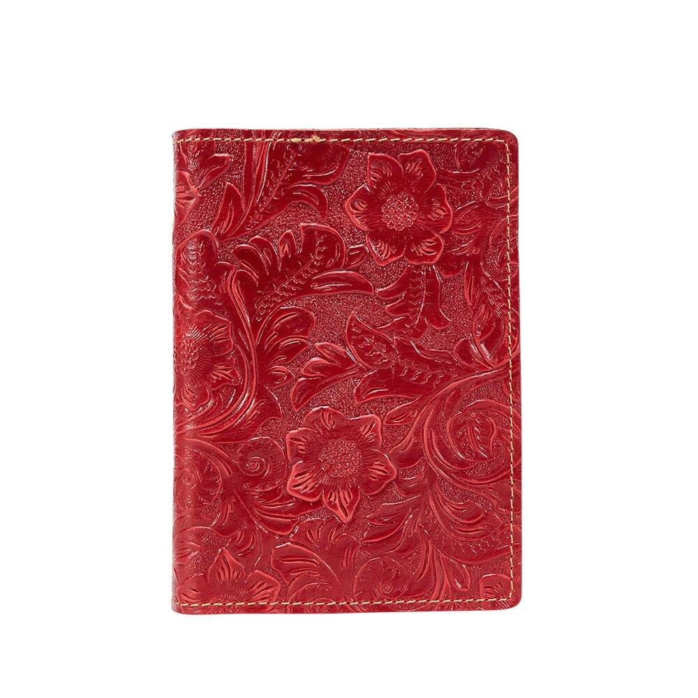 K018-Vrouwen Paspoort Cover Portemonnee-Rood-04 (11)