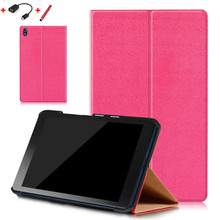"Small stone front support Stand PU Leather Case Skin Cover For Lenovo Tab3 8 Plus P8 TB-8703N TB-8703F 8"" Tablet PC case"
