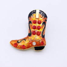 5PCSNew Year Series Metal Drop Tape Drill Santa Claus Boots Dual-use Brooches Jewelry Gifts Christmas Decorative Brooches(China)