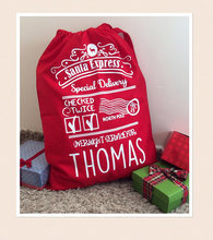 custom kids name Large Xmas Stocking Christmas Present Santa Sacks kids Canvas gift toy bags cotton drawstring storage pack(China)
