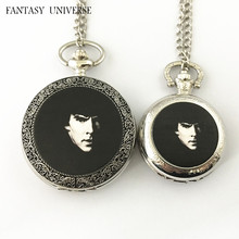 FANTASY UNIVERSE Freeshipping wholesale 20pc a lot Sherlock pocket Watch necklace Dia4.7mm and Dia3.5mm  HRSYYT52