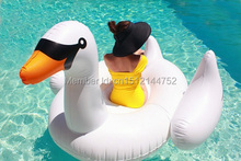 Factroy Directly Supply EN71 Approved GIFT 190x190cm Pool Water Float Toy White Giant STRONG Inflatable Swan Life Raft(China)