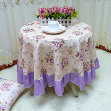 Customized! European Pastoral Circular Table Cloth, 2 Colors Jacquard Lace Cotton Dinning Tablecloths Chair Covers Free shipping