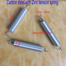 50pcs/lot 1*10*65mm 1.0 wire Carbon steel with Zinc extension tension spring springs