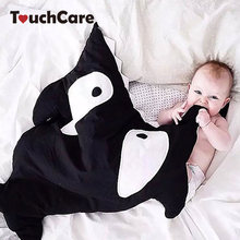 TouchCare Cartoon Shark Baby Sleeping Bag Soft Thick Blanket Infant Wrap Bedding Sleep Sacks Winter Newborn Kids Sleeping Bags(China)