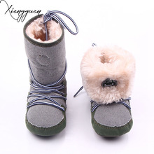 Fashion Baby Boy Winter Shoes Boots Warm Newborn Infant Prewalker Toddler Baby Boy Snow Boots Shoes For 0-15 Months