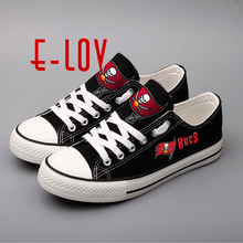 Tampa Bay Buccaneers Black Casual Shoes Print Canvas Shoes Low Top Lace Leisure Shoes Boys Festival Gift(China)