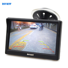 DIYKIT 5 Inch TFT LCD Display Car Rear View Monitor with Suction Cup and Free Bracket For MPV SUV Horse Lorry(China)