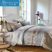SIDANDA Pure Cotton Bedding Set Duvet Cover Set Printed Pillow Quilt Cover Bed Sheet Brand Design Bedding For Home Grand Hotel