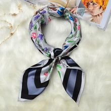 May New Arrival 100% Silk Twill Scarf, Floarl & Birds Print Square 90 Silk Scarfs Shawl Hijba Bandana Charming Accessory