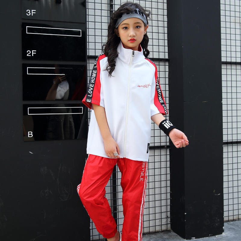 Childrens Hip Hop Costumes Boys Girls Hip-hop Loose Baseball Uniform Sets Kids Childrens Clothing Costumes Suits Twinset <br>