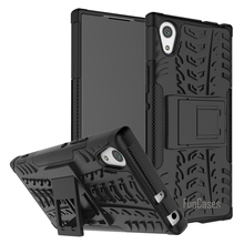 Case For Sony Xperia XA1 Case Hybrid Kickstand Dazzle Rugged Rubber Armor Hard PC+TPU 2 in 1 Stand Function Shockproof Case