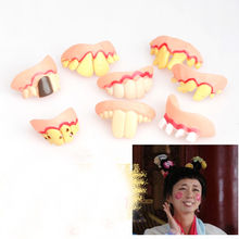 Prank Toy Startle Tooth Halloween Props Scary Crooked Monster Teeth Funny Trick
