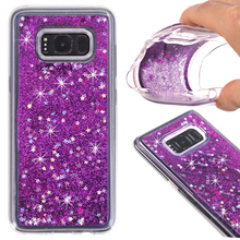 Liquid Ultra Soft case For Coque Samsung S8 Plus case Samsung galaxy S8 plus case Glitter Water Stars Bring Soft TPU Back cover(China)