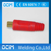 2PCS Red  Female 35-50 mm2  Quick Fitting Cable Connector MIG MMA TIG Welding High Quality Real Copper Rubber