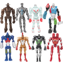 2017 Hot 8pcs/lot Cosplay Real Steel Atom Ambush Zeus Metro Twin Cities Noisy Boy PVC Action Figure Model Toys For Kids Gifts