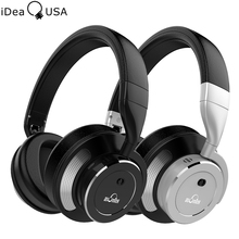 iDeaUSA V200 Active Noise Cancelling HiFi Headphone Bluetooth 4.1 Over Ear Wireless Headphones with Mic up to 16 Hours Play Time
