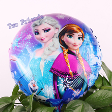 18inch Elsa Anna foil balloons 2 kinds ice Snow Queen Princess ballon 10pcs happy birthday party decorations kids gifts toys