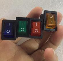 5pcs illuminated rocker switch,4 pins,with lamp,ON-OFF(China)