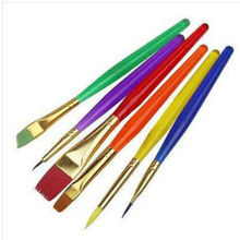 6Pcs/Set Fine Hand-painted Thin Hook Line Pen Drawing Art Pen #0 #00 #000 Paint Brush Art Supplies Nylon Brush Painting Pen