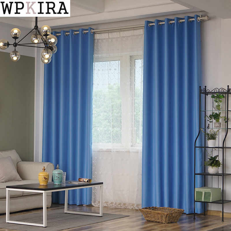 New Fabric Solid Curtains For Living Room/Bedroom Colorful with Purple/Green/Blue/Pink Window Kitchen Curtain Blinds S067&30