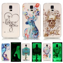 Luminous Case sFor Coque Samsung Galaxy S5 case For Samsung S5 i9600 G9000 Night Light Soft TPU Silicone Cell Phone Back Cover