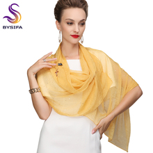 Ladies Elegant Silk Long Scarf Tippet Hot Sale Accessories Butterfly Pendant  Yellow Silk Scarf Printed For Spring Fall 180*75cm