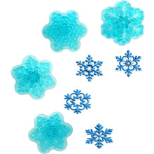 4PCS Four Different Kinds Of Snow Flowers Shape Food Grade Plastic Cookie, Jelly, Ice,Fondant Cake Decorating Bakeware A161