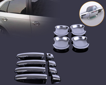 ABS Plastic Chrome 8pcs Door Handle Cover + 4pcs Cup Bowl Combo for Suzuki Swift Grand Vitara 2005 2006 2007 2009 2009 2010