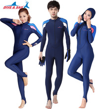 Brand UPF 50+ Lycra Swim stinger suit Dive skin Snorkeling Surf Waterski anti-uv wear 2 piece Full body with caps hood Men Women