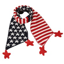 Children Scarf Christmas Gift Classical Five Pointed Star Knit Fashion Striped Unisex Baby Scaves Wrap Shawl #ED