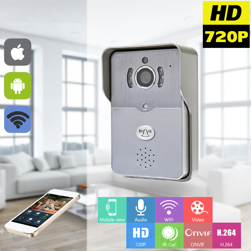 720P IP Wifi Doorbell Camera With Motion Detection Alarm Wireless Video Intercom Phone Control IP Door Phone Wireless Door Bell(China (Mainland))