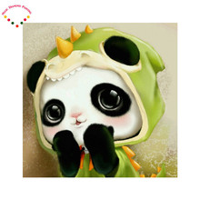 Diamond embroidery 5D diy magic diamond painting cross stitch cartoon picture drill round diamond mosaic animals love Panda Kits