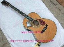 39 inches Classic Acoustic Guitar Top AAA Solid Red CedarT Abalone Binding Body With Fishman Pickups(China)