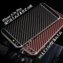 Fashion Carbon Fibre Full Body Skin Protector Wrap Sticker Decal cover For iphone 5 5s 6 6s plus 7 7 plus 4.7/5.5 inch(China)