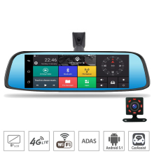 "8"" 4G Touch IPS Special Car DVR Camera Android Mirror GPS Bluetooth WIFI ADAS Radar Car Assist Dual Lens Video Recorder Dash Cam"