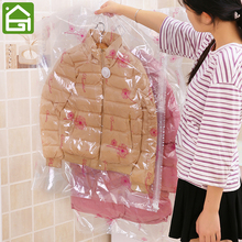 Premium Space Saver Vacuum Storage Bags Reusable Compression Sealer Sacks Wardrobe Clothes Hanging Organizer